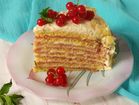 Рецепт Яблочный торт с красной смородиной