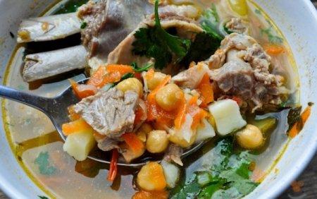 Рецепт Суп из баранины с горохом нут