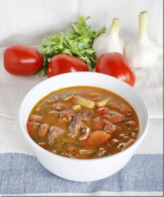 Рецепт Суп-рагу из баранины с красной фасолью