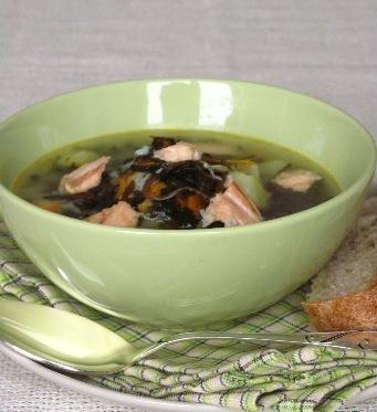 Рецепт Рыбный суп с морской капустой и рисом