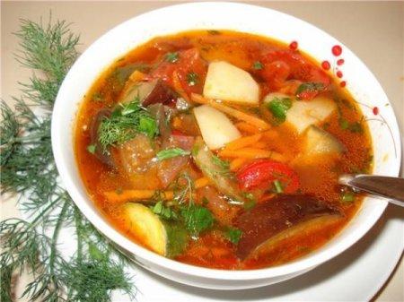 Рецепт Овощной суп с томатной пастой