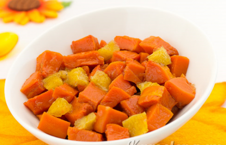 Рецепт Тыква, запеченная с апельсином и лимоном