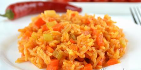 Рис с морковью и сельдереем