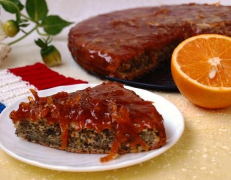 Рецепт Маково-апельсиновый кекс