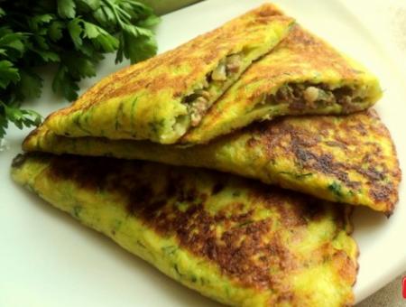 Рецепт «Чебуреки» из кабачка