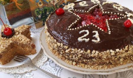 "Рецепт Торт ""23 февраля"""