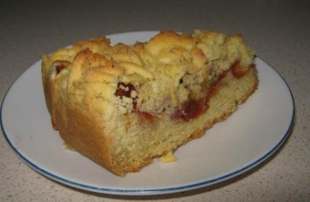 Рецепт Песочный пирог со сливами