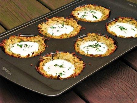 Рецепт Яйца в картофельных гнездах