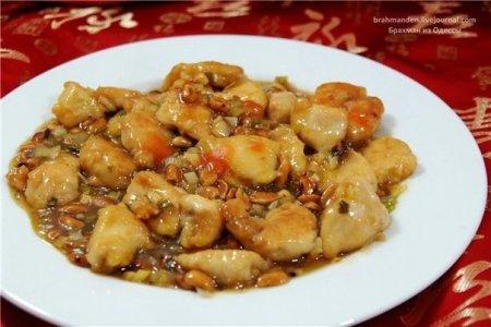 Рецепт Куриное филе с арахисом