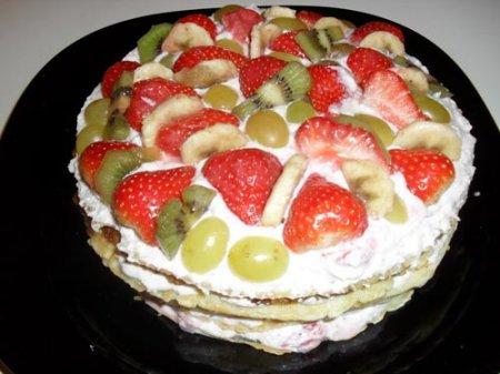 Рецепт Блинно-творожный пирог с ягодами