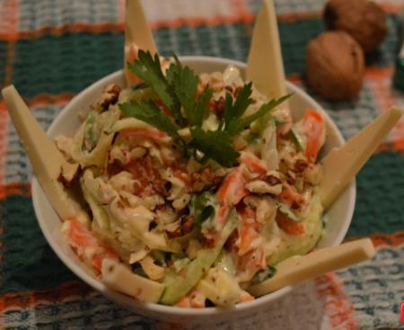 Рецепт Салат морковный с сыром
