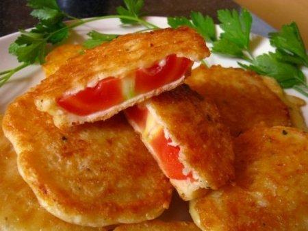 Рецепт Жареные помидоры в сырном кляре