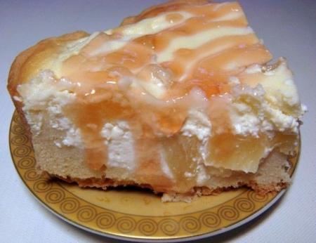 Рецепт Творожный пирог с ананасами