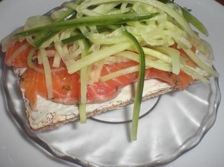 Рецепт Бутерброды с лососем