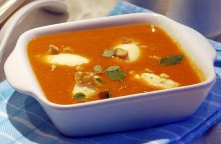 Рецепт Суп из паприки с манными клецками