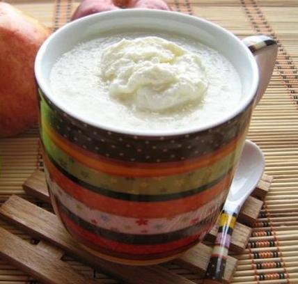 Рецепт Яблочно-молочный кисель со сливками