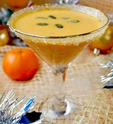 Суп с тыквой и мандаринами