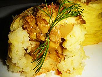 Картофельные гнёзда из пюре