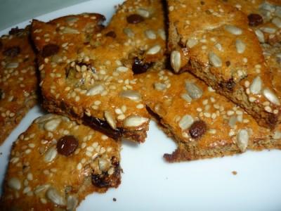 Рецепт Сухарики-печеньки из отрубей и тхины