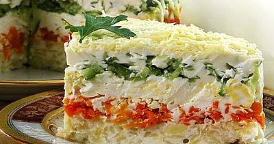 овощной торт рецепты с фото
