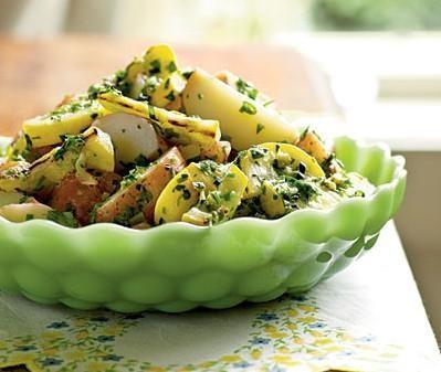 Рецепт Картофельный салат с орехами