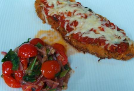 Рецепт Говяжья вырезка с горячим салатом из помидор черри