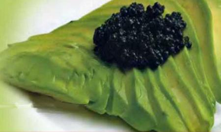 Рецепт Авокадо с черной икрой