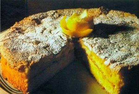 Лимонный тарт с миндалем