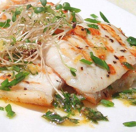 Рецепт Рыбное филе под лимонно-имбирным соусом