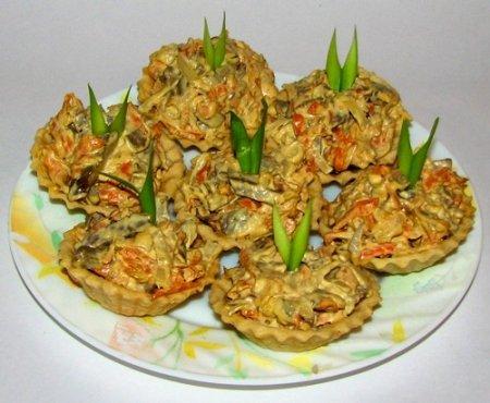 Салат из телячьей печени