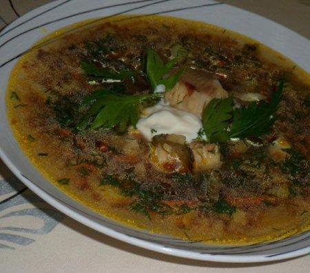 Рецепт Рассольник рыбный с гречкой