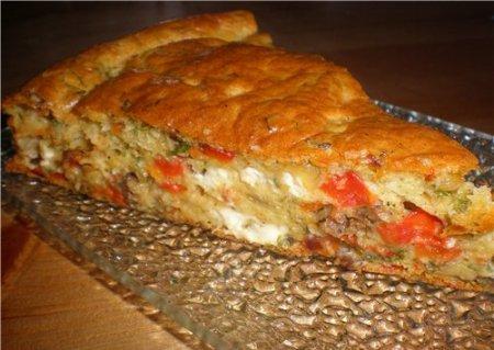Рецепт Пирог с фаршем и сыром