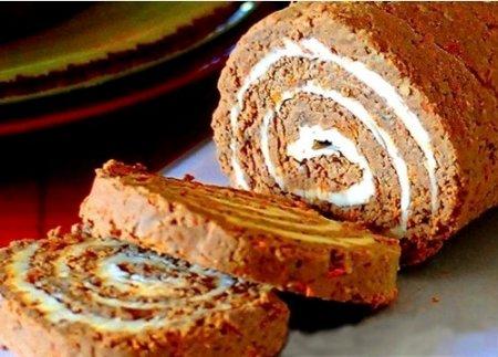 Рецепт Рулет из печени с луком