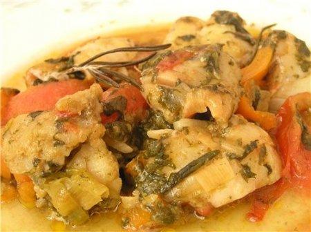 Рецепт Рыбное рагу с овощами и щавелем