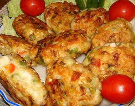 Рецепт Котлеты «Пикантные» с курицей