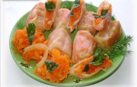 Рецепт Маринованные овощные голубцы по-корейски