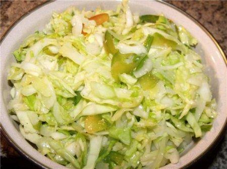 Рецепт Салат из капусты со сладким перцем