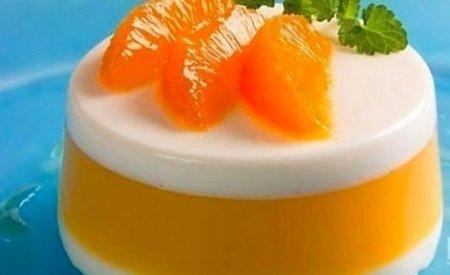 Рецепт Десерт апельсиновый - очень легкий!