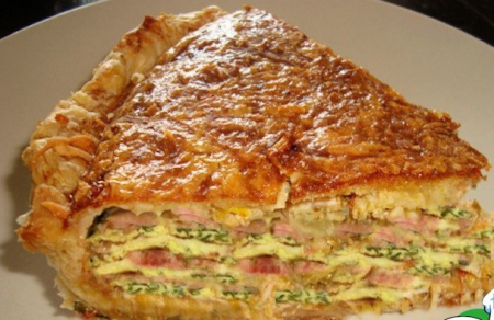 Рецепт Слоеный пирог - Галета