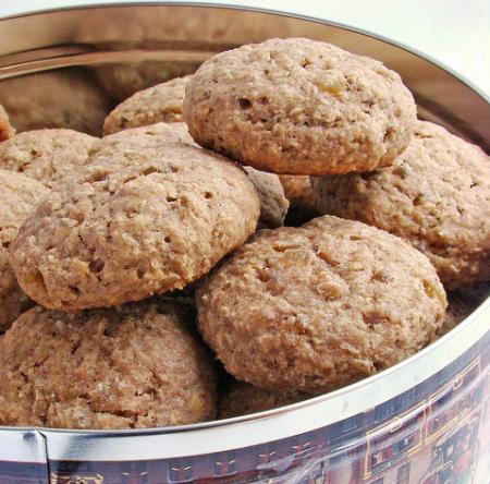 Рецепт Овсяные пряники с имбирем и цукатами