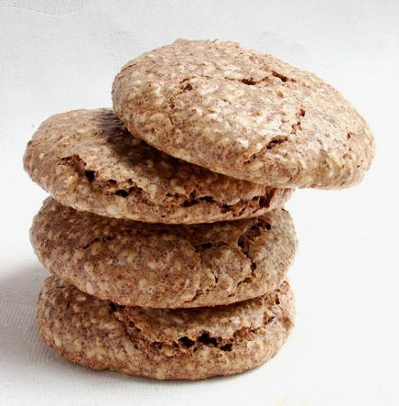 Печенье с кунжутом и шоколадом
