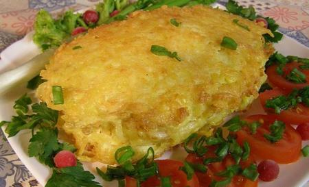 Тилапия в картофельно-сырной корочке