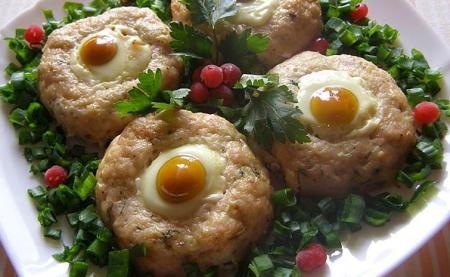 Рецепт «Гнезда» из куриного фарша
