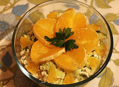 Рецепт Салат с апельсином и пекинской капустой