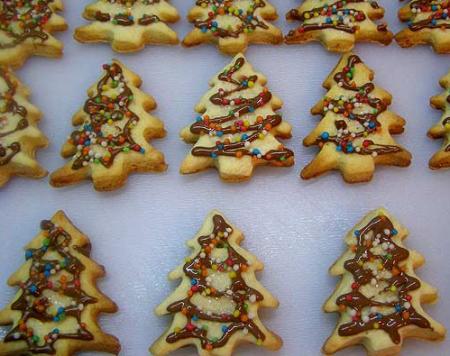 Рецепт Новогоднее печенье «Елочки»