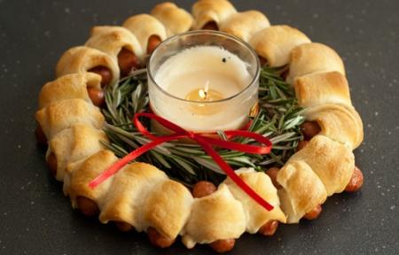 Сосисочный Рождественский Венок