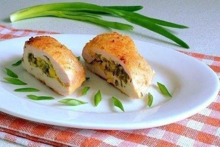 Рецепт Куриное филе с творогом и зеленью