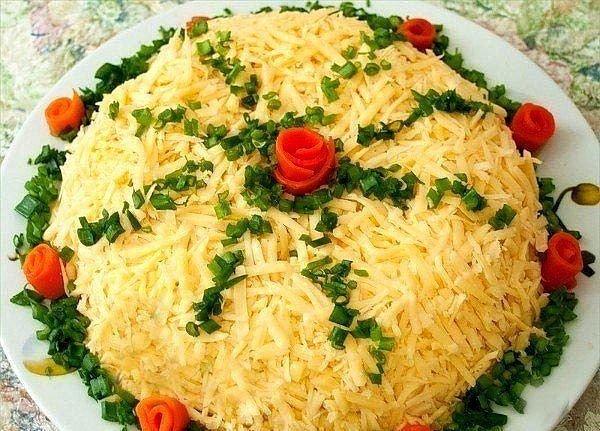 Праздничные салаты из капусты