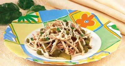 Рецепт салат кальмары с курицей