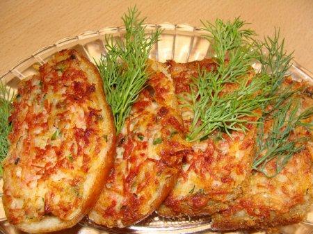 Рецепт Бутерброды перевертыши с колбасой
